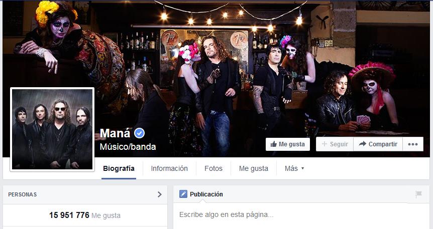 Maná Facebook