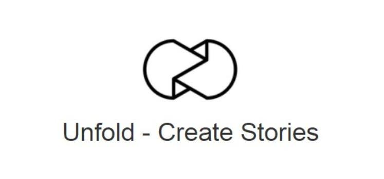 Herramientas para crear contenido Unfold para crear historias